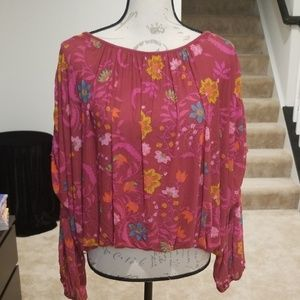 New Free People Tulle Blouse